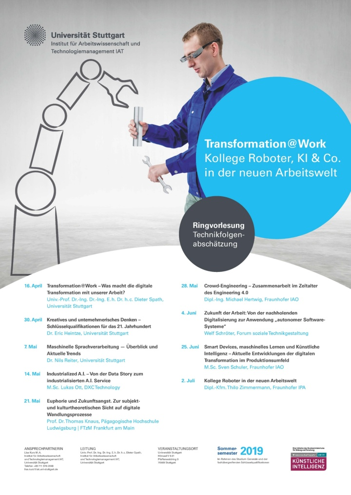 Poster zur Ringvorlesung Technikfolgenabschätzung (c) IAT Universität Stuttgart